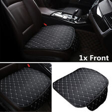 1Pcs Universal Car Front Seat Cushion Pad Black and White PU Leather All Seasons