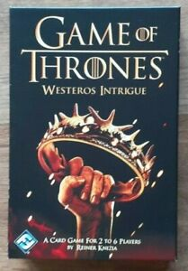 Game Of Thrones Westeros Intrigue Card Game - NEW