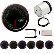 """Universal 2""""/52mm 7 Color LED Auto Air Fuel Ratio Gauge Meter Pointer 12V New"""