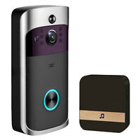 Smart Video Doorbell Wireless Home WiFi Camera,Two Way Audio+16GB Micro SD Card