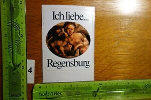 Alter Aufkleber Reise Stadt Land Ich liebe REGENSBURG