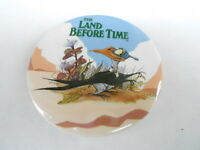 VINTAGE PINBACK BUTTON #58-004 - THE LAND BEFORE TIME - PETRIE'S FAMILY