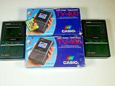2 Casio LCD Pocket Color Handheld Portable TV Television VHF UHF TV-400 (7C-3)