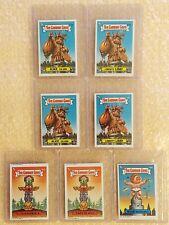 LOT of 7: 1986 Garbage Gang Original 2nd Series 2 GPK OS2 NEW ZEALAND MINI CARDS