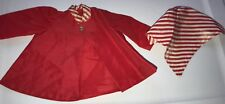 Doll Terri Lee Clothing 2 Piece Red Nylon Coat and Ponytail Hat 1950's Tagged