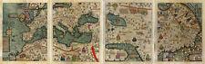Set of 4 Mapamundi Abraham Cresques Catalan Atlas World Wall Map 1375 Mapamondi