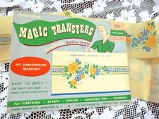 VINTAGE UNUSED UNCUT MAGIC TRANSFERS FOR SEWING NO EMBROIDERY NEEDED SHIPS FREE
