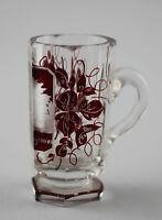 99835178 Rotes Bäderglas  um 1900  Bäder-Becher