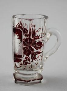 99835178 Red Bäderglas um 1900 Bathrooms - Cup