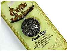Greenman Celtic Pewter Pendant on Adjustable Corded Necklace with Story Card
