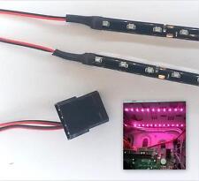 PINK MODDING PC CASE LIGHT LED KIT (TWIN 30CM STRIPS) MOLEX 60CM TAILS