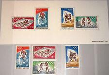 GABON GABUN 1968 308-11 Block 10 C70-73a Olympics Olympia Mexico Sport MNH