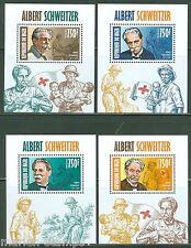NIGER 2013 ALBERT SCHWEITZER  SOUVENIR SHEETS  NH