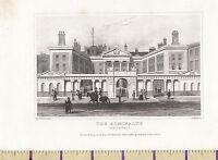 C1840 Vittoriano Stampa ~Londra~ The Ammiragliato Whitehall