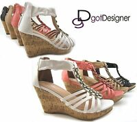 NEW Women's Fashion Dress Shoes Wedges Platforms Dress High Heels Summer Sandal