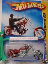 2009 #9 NM Hot Wheels OCC SPLITBACK Cycle ☆RED☆chopper☆New Models