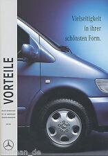 1 mercedes V-clase ventajas versatilidad 1996 6/96 folleto brochure broszura