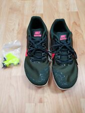 Size 10.5 Nike Zoom Rival D 10 Spikes Olive Green Track Field Cleats 907566-300