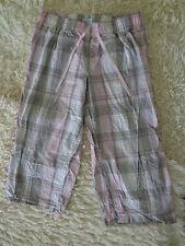 Petite fleur ¾ Pyjamahose Hose Größe 36 weis rosa grau beige blau kariert wieneu