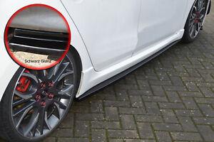 CUP Seitenschweller ABS für Seat Leon 5F Facelift FR Cupra R ST schwarz glanz