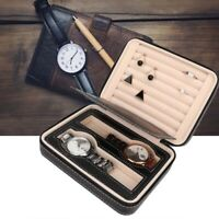 Fashion Jewelry Wrist Watch Storage Box Stud Earring Rings Holder Organizer NEW