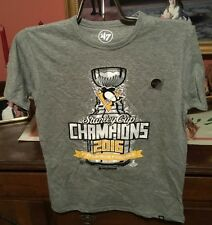 Pittsburgh Penguins 47 Brand Youth 2016 Stanley Cup t-shirt NWT Size XL