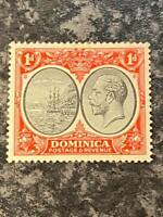 DOMINICA  POSTAGE & REVENUE STAMP SG73 1D LIGHTLY MOUNTED MINT