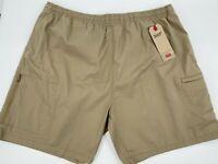"Levi's Men's Walking Shorts Size XXL Khaki Tan Stretch Athletic Lightweight 7"""
