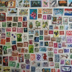 LOTTO di 1000 francobolli mondiali DIFFERENTI+6 FOGLIETTI IN OMAGGIO