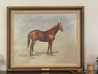 ART OIL ON CANVAS PAINTING OF HORSE, JERRILYN SUE GUTHEIL,