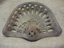 Vintage Stoddard Cast Iron Tractor Seat > Antique Farm Tools Equipment 8923