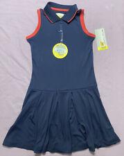 Jack Nicklaus Eco Choice Girls Golf Tennis Dress Navy Blue