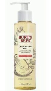 Burt's Bees CLEANSING OIL coconut & argan oils 6 OZ Clear Skin FACIAL CLEANSER