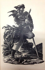 PIRATE & Parrot ~ TREASURE ISLAND ~ Signed LITHOGRAPH 1941 Edward A Wilson