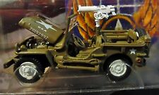 JOHNNY LIGHTNING WHITE LIGHTNING WWII WILLYS MB SCOUT JEEP BRIGADE MILITARY