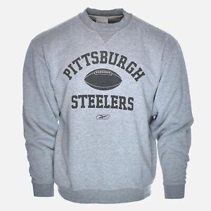 Pittsburgh Steelers 90's Athletic Football Logo Reebok Vtg Crewneck Sweatshirt L
