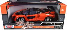 MOTORMAX ORANGE MCLAREN SENNA 1/24 DIECAST MODEL CAR 79355OR