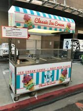 2016 - 2.5' x 7' Nelson Ice Cream Concession Cart / Mobile Ice Cream Stand for S