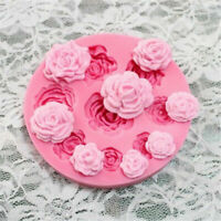 9 Rose Flowers Silicone Mould Fondant Cake Sugarcraft Mold Chocolate Candy Tool