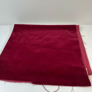 velvet fabric red 28x24 craft sewing project
