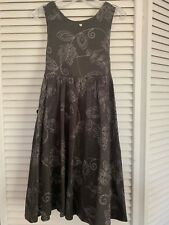 Tartine et Chocolat Paris Boutique Dress Charcoal Gray Dress W/ Embroidery Sz 5
