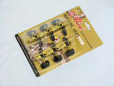 ALICE Machine heads Classical Guitar tuners GEARS tuning - BLACK and GOLD Keys