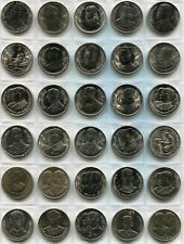 Thailand Complete 46 Coin 10 Baht Nickel Set 1977 - 1994 King Rama IX Rare d