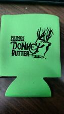 Primos Donkey Butter Beer Can Coozie Koozie Koozy Fluorescent Green
