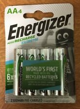 4 x Energizer AA 2300 mAh NiMH 1.2V Extreme Pre-Charged Rechargeable Batteries