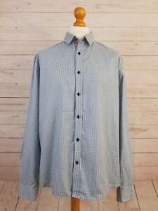 Jack & Jones Premium Men's Blue Tailored Fit Long Sleeve Check Shirt UK XXL