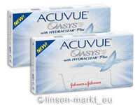 Acuvue OASYS Hydraclear PLUS  2×6  Neu&OVP - Non-Stop-Linsen 2-Wochenlinsen