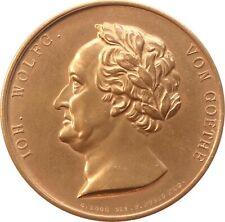 Bronzemedaille 1826, von Loos/König, 75. Geburtstag Johann Wolfgang von Goethe