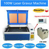 DSP 100W CO2 Laser Gravier Carving Cutter Gravur Maschine Engraving & Chiller