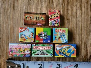 Worlds Smallest MICRO MINI TOY BOX Series 1 Lot of 8 Board Games